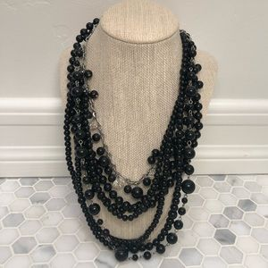 Black Layered Necklace